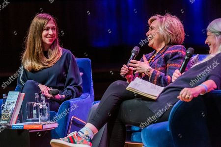 Hillary Clinton and Chelsea Clinton discuss 'The Book of Gutsy Women' with Mary Beard at Southbank Centre's Royal Festival Hall.