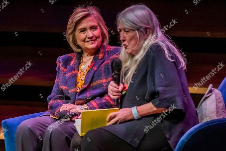 Hillary Clinton and Chelsea Clinton discuss The Book of Gutsy Women with Mary Beard at Southbank Centre's Royal Festival Hall.