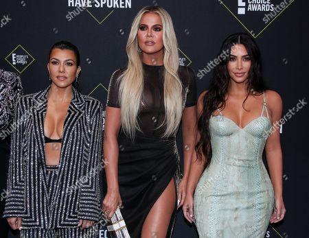 Kourtney Kardashian, Khloe Kardashian and Kim Kardashian West