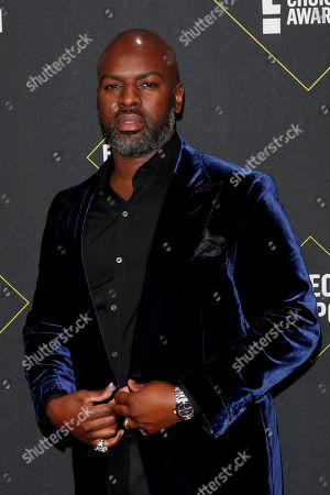 US businessman Corey Gamble arrives for the 2019 People's Choice Awards at the Barker Hangar in Santa Monica, California, USA, 10 November 2019.