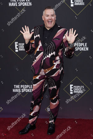 Ross Mathews arrives for the 2019 People's Choice Awards at the Barker Hangar in Santa Monica, California, USA, 10 November 2019.