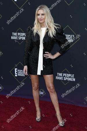 Morgan Stewart arrives for the 2019 People's Choice Awards at the Barker Hangar in Santa Monica, California, USA, 10 November 2019.