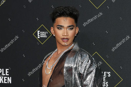 Filippino personality Bretman Rock arrives for the 2019 People's Choice Awards at the Barker Hangar in Santa Monica, California, USA, 10 November 2019.