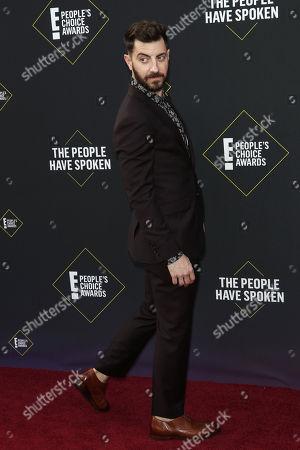 US TV producer Will Marfuggi arrives for the 2019 People's Choice Awards at the Barker Hangar in Santa Monica, California, USA, 10 November 2019.