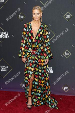 US business person Dorit Kemsley arrives for the 2019 People's Choice Awards at the Barker Hangar in Santa Monica, California, USA, 10 November 2019.