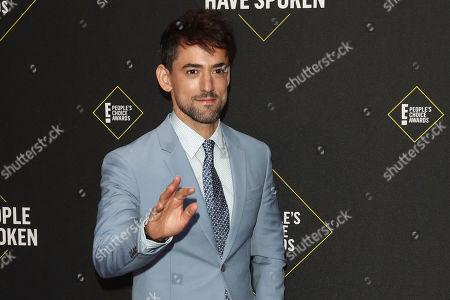 Luis Gerardo Mendez arrives for the 2019 People's Choice Awards at the Barker Hangar in Santa Monica, California, USA, 10 November 2019.