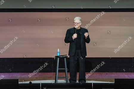 Sir Ken Robinson seen on day three of Summit LA19 in Downtown Los Angeles, in Los Angeles