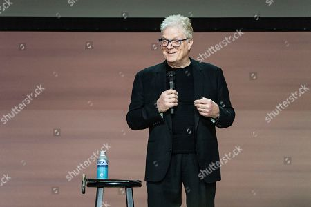 Sir Ken Robinson seen on day three of Summit LA19 in Downtown Los Angeles, in Los Angeles