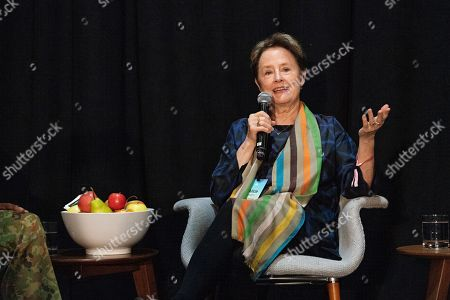Alice Waters seen on day three of Summit LA19 in Downtown Los Angeles, in Los Angeles