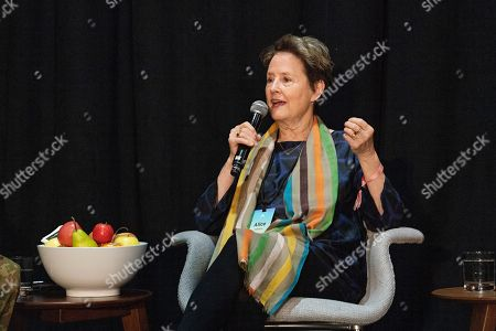 Stock Photo of Alice Waters seen on day three of Summit LA19 in Downtown Los Angeles, in Los Angeles