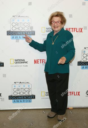 Dr. Ruth Wertheimer arrives at the Fourth Annual Critics' Choice Documentary Awards to celebrate her film, Ask Dr. Ruth, New York, N.Y