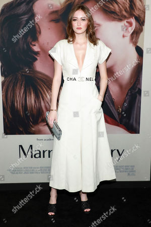 "Karsen Liotta attends the premiere of ""Marriage Story"" at the Paris Theater, in New York"