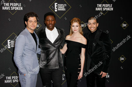 Stock Photo of Katherine McNamara, Joseph David-Jones, Ben Lewis and Rick Gonzalez