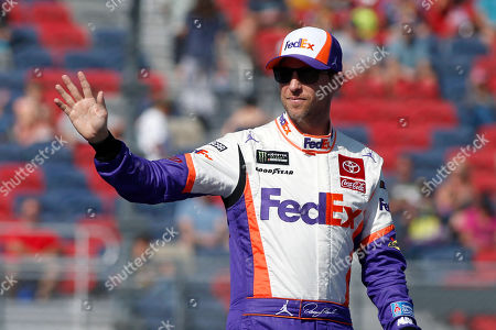 Denny Hamlin during driver introductions prior to the NASCAR Cup Series auto race at ISM Raceway, in Avondale, Ariz