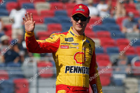 Stock Photo of Joey Logano during driver introductions prior to the NASCAR Cup Series auto race at ISM Raceway, in Avondale, Ariz