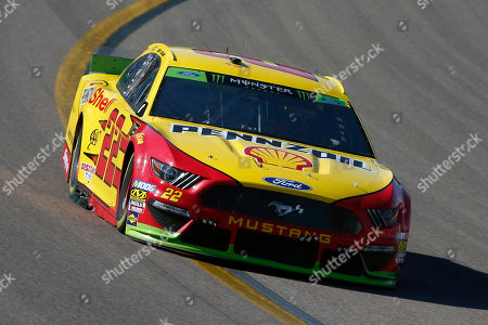 Joey Logano during the NASCAR Cup Series auto race at ISM Raceway, in Avondale, Ariz