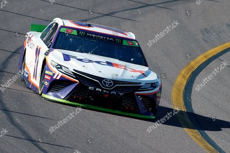 Denny Hamlin during the NASCAR Cup Series auto race at ISM Raceway, in Avondale, Ariz