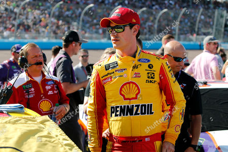 Joey Logano prior to the NASCAR Cup Series auto race at ISM Raceway, in Avondale, Ariz