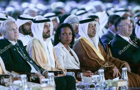 Former US Secretary of State Condoleezza Rice attends the opening ceremony of the Abu Dhabi International Petroleum Exhibition and Conference (ADIPEC) in Abu Dhabi, United Arab Emirates, 11 November 2019. The event runs between 11 and 14 November 2019.