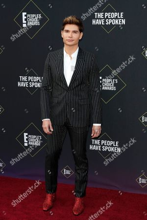 Christian Acosta arrives for the 2019 People's Choice Awards at the Barker Hangar in Santa Monica, California, USA, 10 November 2019.
