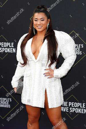 Remi Cruz arrives for the 2019 People's Choice Awards at the Barker Hangar in Santa Monica, California, USA, 10 November 2019.