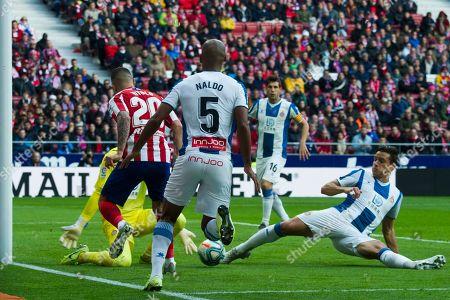 Espanyol's Spanish goalkeeper Diego Lopez ; Espanyol's Brazilian defender Edinaldo Gomes ' Naldo '; Atletico de Madrid's Spanish forward Vitolo; Espanyol's Spanish defender Bernardo Jose Espinosa