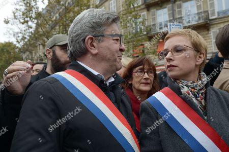 Stock Picture of Jean-Luc Melenchon with Clementine Autain