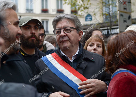 Jean-Luc Melenchon with Alexis Corbiere