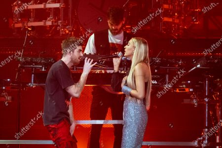 The Chainsmokers - Andrew Taggart and Alex Pall with Lennon Stella