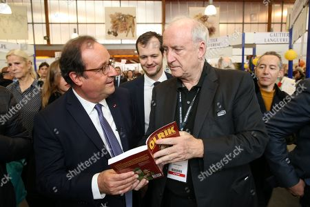 Francois Hollande and Hubert Vedrine, Paul Roche