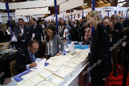 Stock Picture of Francois Hollande and Julie Gayet