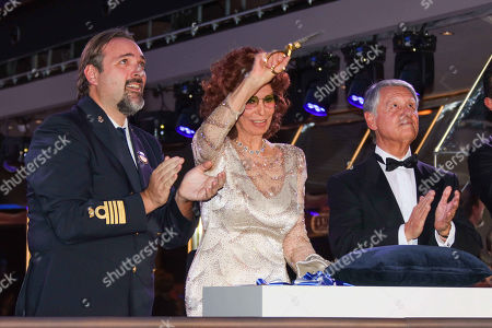 Editorial image of Christening of the cruise ship MSC Grandiosa, Hamburg, Germany - 09 Nov 2019