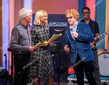 Phillip Schofield and Holly Willoughby with Mick Hucknall