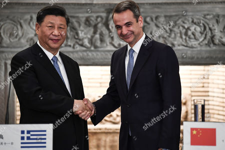 Editorial photo of Chinese President Xi Jinping visits Greece, Athens - 11 Nov 2019