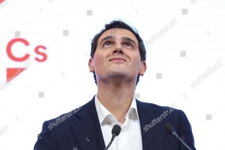 Editorial picture of Albert Rivera resigns after electoral bump for Ciudadanos, Madrid, Spain - 11 Nov 2019