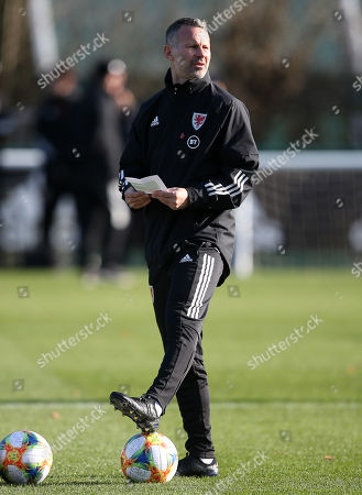 Wales Manager Ryan Giggs during training.