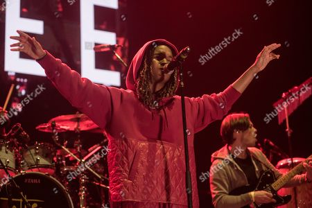 Editorial image of Chronixx and Koffee in concert, Birmingham Arena, UK - 10 Nov 2019