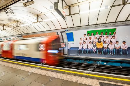 Yr 3 project posters on the platform billboards at Pimlico underground station. Steve McQueen's Year 3 project can now be seen as a large-scale installation at in the Duveen Galleries at Tate Britain. It is also on 600 billboards across all 33 of London's boroughs. The images feature class photos of Year 3 school children from London primary schools. The billboards are on high streets, railway platforms, roadside sites, and underground stations until mid-November