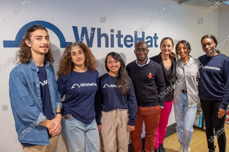 Liberal Democrat Shadow Business, Energy and Industrial Strategy Secretary Sam Gyimah and London Mayoral candidate Siobhan Benita stand with apprentices during a visit to 'WhiteHat', a tech start-up founded to help people access apprenticeships. , to discuss the party's plans for the creation of an ambitious Skills Wallet which gives every adult £10,000 to spend on education and training throughout their lives.