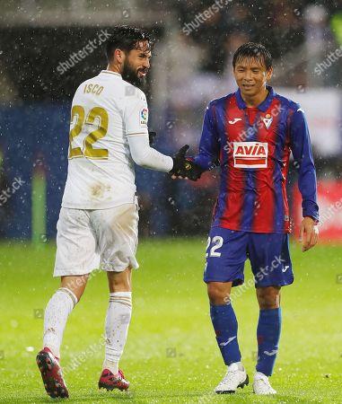 Isco of Real Madrid, Takashi Inui of Eibar