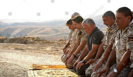 Abdullah II, Hussein. Jordan's King Abdullah II, third right, prays during a tour of the Baqura enclave formerly leased by Israel, with Crown Prince Hussein, fourth right, and military officers, . Jordan's decision not to renew the leases on the Baqura and Ghamr enclaves, known in Hebrew as Naharayim and Tzofar, were a fresh blow to Israel and Jordan's rocky relations 25 years after the two countries signed a peace deal