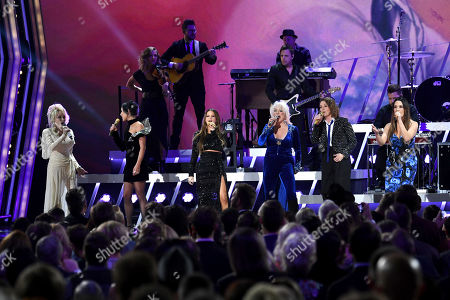 Stock Photo of Dolly Parton, Amanda Shires, Maren Morris, Tanya Tucker, Brandi Carlile and Natalie Hemby