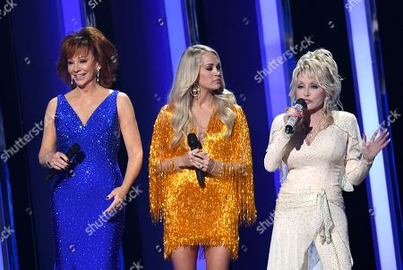 Reba McEntire, Carrie Underwood and Dolly Parton