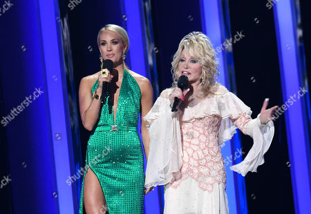 Carrie Underwood and Dolly Parton