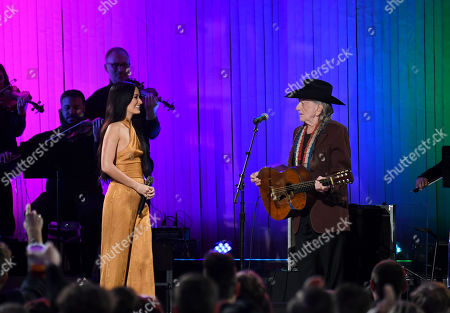 Kacey Musgraves and Willie Nelson