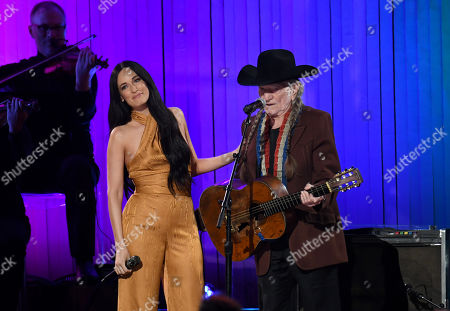 Stock Image of Kacey Musgraves and Willie Nelson