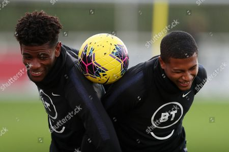 Stock Photo of Jonathan Panzo of England and Rhian Brewster during training