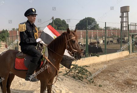 A horse-mounted policeman keeps watch inside Tora prison in Cairo, Egypt, 11 November 2019. According to reports, a delegation comprising members of Human Rights commission, parliamentarians and journalists visited Tora Prison ahead of the Universal Periodic Review (UPR) of Egypt before the UN Human Rights Council scheduled for 13 November and after a UN report on 08 November claimed 'inadequate prison conditions' may have led to the death of ousted president Mohamed Morsi.