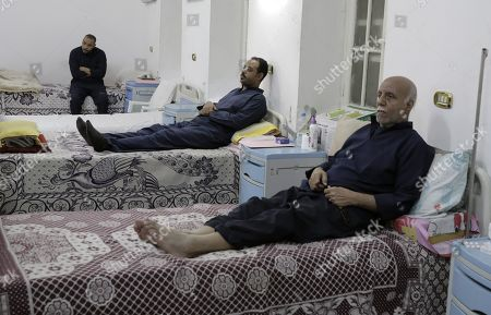Egyptian prisoners receive medical treatment at hospital inside Tora prison in Cairo, Egypt, 11 November 2019. According to reports, a delegation comprising members of Human Rights commission, parliamentarians and journalists visited Tora Prison ahead of the Universal Periodic Review (UPR) of Egypt before the UN Human Rights Council scheduled for 13 November and after a UN report on 08 November claimed 'inadequate prison conditions' may have led to the death of ousted president Mohamed Morsi.