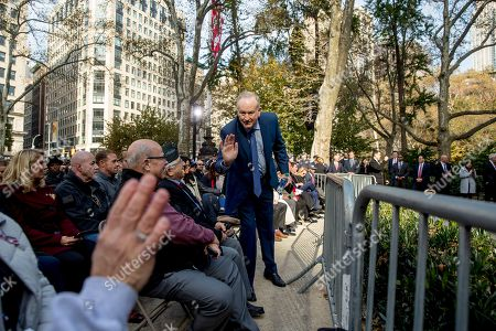Bill O'Reilly. Bill O'Reilly arrives before President Donald Trump and first lady Melania Trump participate in a wreath laying ceremony at the New York City Veterans Day Parade at Madison Square Park, in Washington